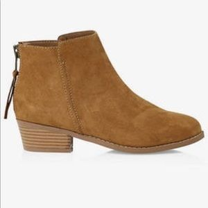 NEW Express Faux Tan Suede Booties